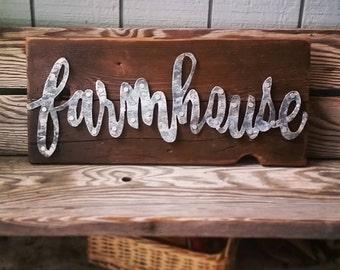 Metal Farmhouse Sign