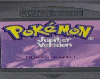 Gameboy Advance Game Boy GBA Pokemon Jupiter Customized