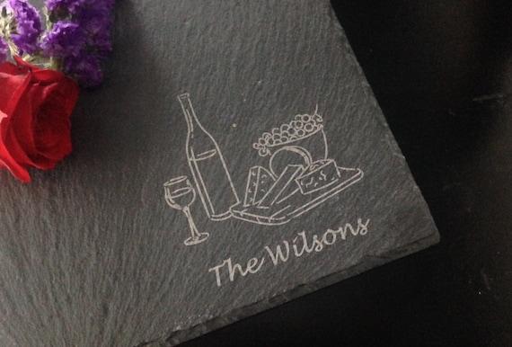 Personalized Slate Cheese Board - Realtor Closing Gift, Personalized Housewarming Gift, Personalized Wedding Gift