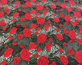 Rose Guipure LACE FABRIC,  hollow up Lace fabric ,colors Lace for Girls, Clothings / DRESS Lace supply ,solubility lace fabric,wave lace