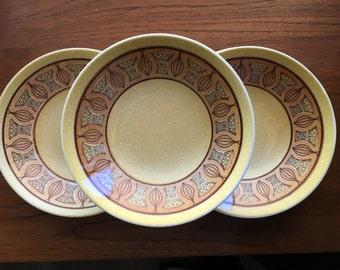 Taylor Smith & Taylor Atomic Onion Honey Gold soup bowls sold individually