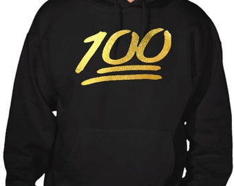 New Men's Reflective Gold 100% Hoodie All size S-5XL Black