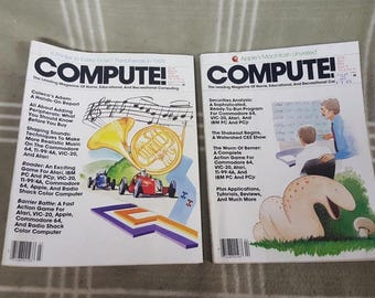 Lot of 2 Vintage COMPUTE! Magazines. March & April 1984. Commodore 64. Computer.