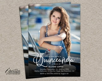 Quinceanera Invitation | Photo Quinceañera Celebration Invitations | Sweet 15 Birthday Party Invitation | Invitacion de XV Años con Foto