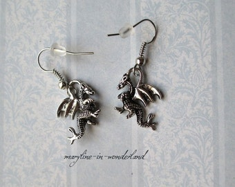 dragon Silver earrings