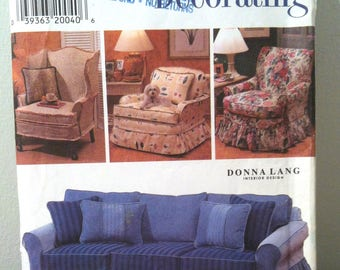 1997 Simplicity Uncut Sofa Slip Cover pattern No 7565 One Size