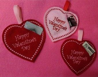 Valentine Heart Candy/Gift Card Holder/Money Holder/Candy Holder