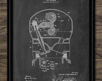 Car Engine Valve Patent Print - 1917 Car Valve Mechanism Design - American Engine - Garage Mechanic - Single Print #2226 - INSTANT DOWNLOAD