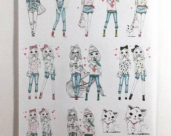 Mini Sticker Sheet  - Best Friends