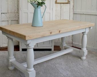 Farmhouse Table / French Country / Farmhouse / Painted Table / French Farmhouse / Dining Table / Farrow and Ball