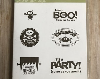 Destash Stampin UP Monster Munchies Stamp Set