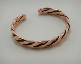 Heavy copper bracelet