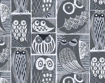 1 /2 Yard Dear Stella Blue Moon Owls in Orion #794
