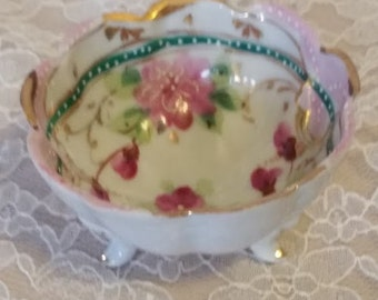 Tiny Floral Footed Bowl
