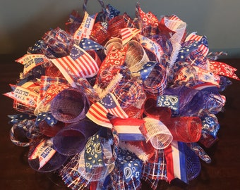 Fourth of July centerpiece, 4th of July centerpiece, fourth of July decor, patriotic centerpiece, patriotic decor, patriotic decorations