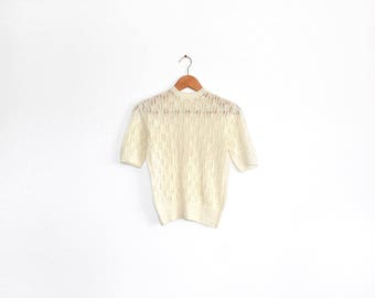 Vintage buttercup hand knitted tee