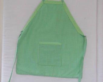 Green Gingham Child Apron