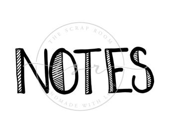 "Doodle Graphics - ""NOTES & doodles""-   PNG and SVG files, 300 dpi, instant download"