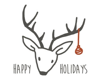 Happy Holidays Stationary Set of 6