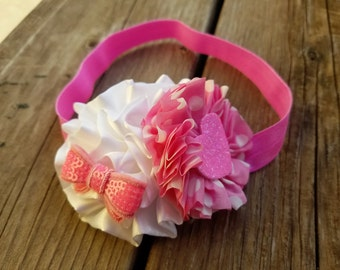Hair Accessory, Girls Accessory, Baby Headband, Flower Headband, Spring Flower, Valentines Day, Baby Headband, Photo Prop, Girls Headband