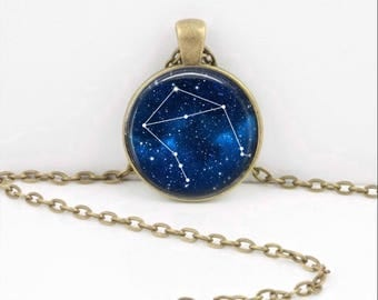 Libra Pendant Necklace Jewelry, Galaxy Astrology Zodiac Constellation,  Star Sign, Zodiac Jewelry, Libra Necklace