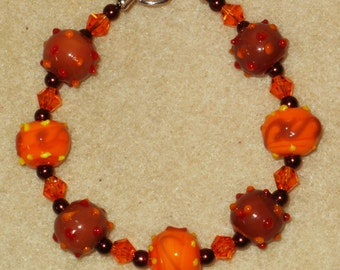 Late Autumn Lampwork Bracelet