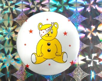 90s BBC Children in Need Pudsey bear badge