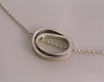 Sterling Petite Slide Necklace, OOAK, Sterling Silver