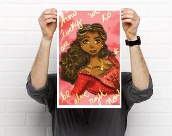 Angelica Schuyler (Hamilton the Musical) 7 x 11 print