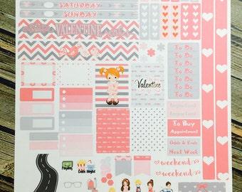 Happy Planner MINI Valentine Kids - Planner Stickers - HP Mini Planner - Valentine Stickers - February Stickers - Valentines Stickers