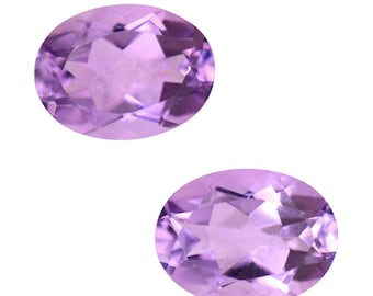 Pink Amethyst Oval Cut Set of 2 Loose Gemstones 1A Quality 8x6mm TGW 1.95 cts.