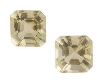 Green Gold Quartz Loose Gemstones Set of 2 Octagon Cut 1A Quality 7mm TGW 2.80 cts.