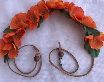 Flower headband, coachella crown, festival crown, floral head piece,