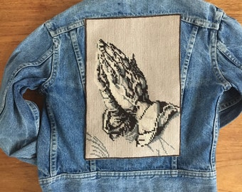 Vintage Lee Denim jacket with back patch