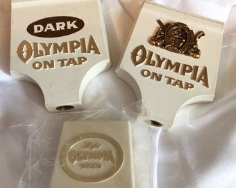Set of 3 Olympia Beer Taps