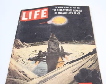 Vintage 1950s and 1960's Life Magazines Moon Landing Life Magazines, space related articles, space exploration, astronauts