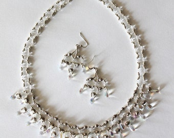 Finery with glass pearls et crystal pearls Snow queen victorian style