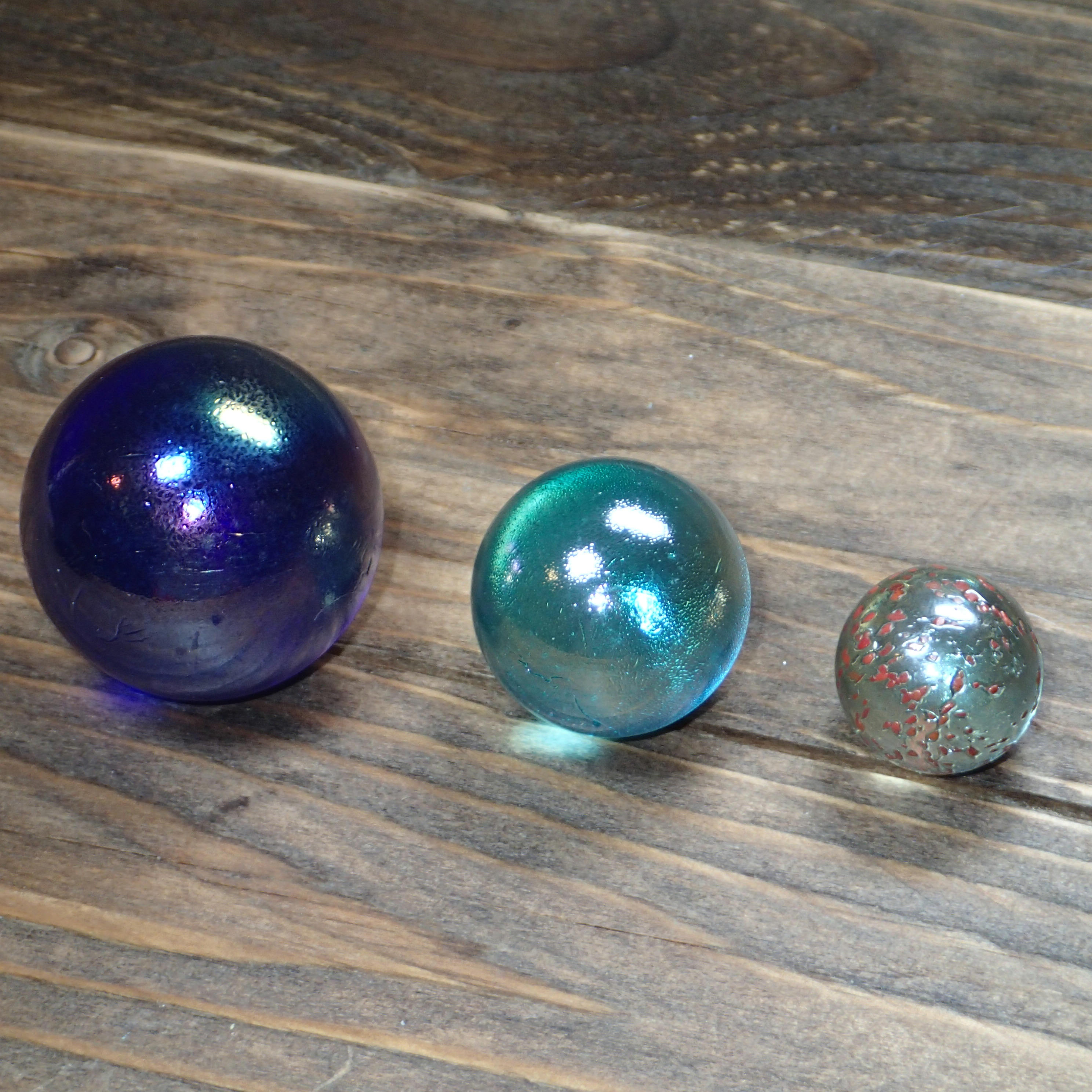 Clear Colored Marbles : Colored glass ball vintage marbles large balls