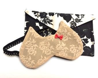 "Sleep mask, lace, model ""Cat Rose"" / cat mask / masks by"