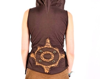 Pixie Top Hoodie,Festival Clothing,Hooded Shirt,Tribal Clothing,Hippie Psy trance, Steampunk Top,Tank,Fairy.christmas gifts, gifts for her