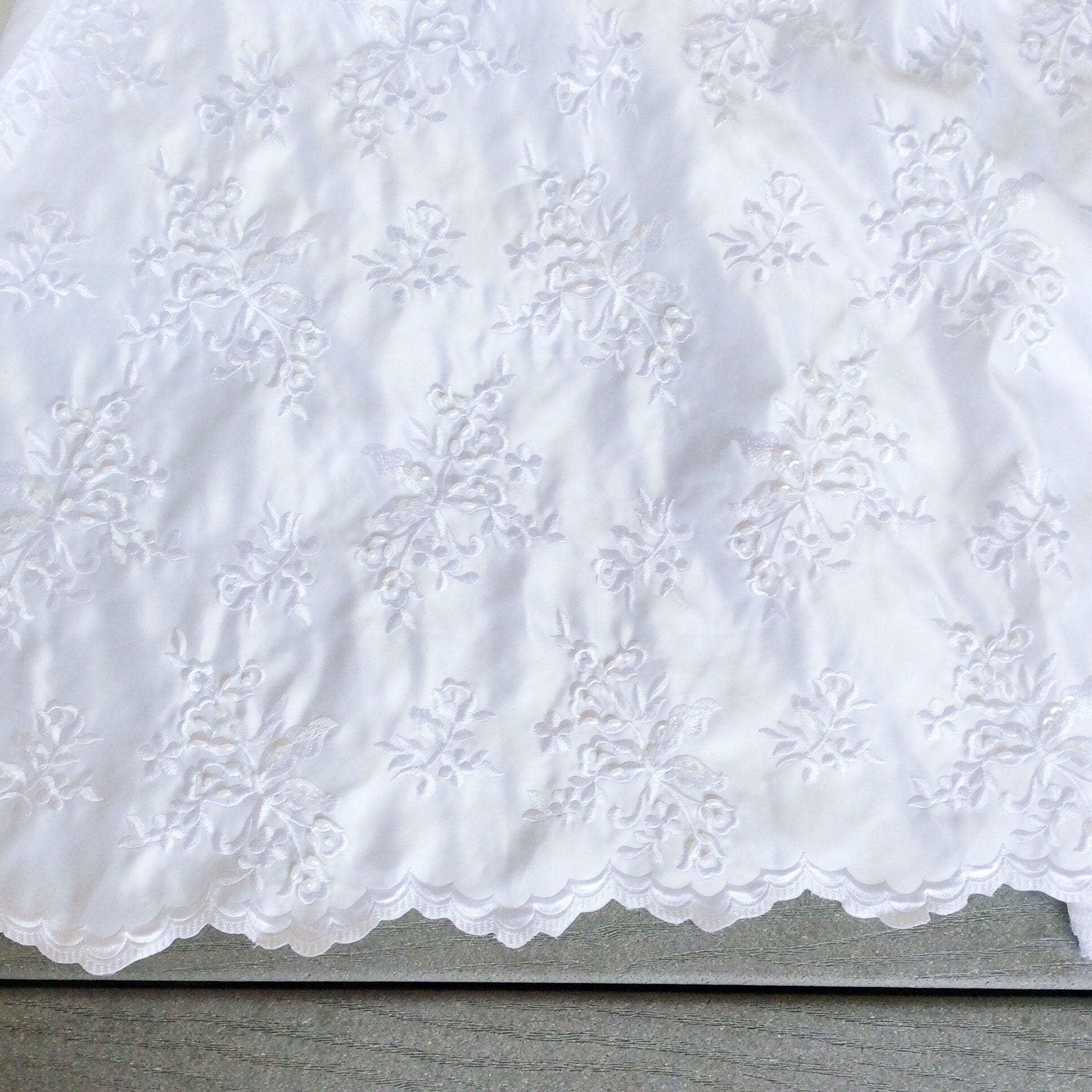 White satin wedding fabric by the yard designer lace for White lace fabric for wedding dresses