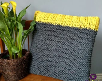 Knitted Throw Pillow Cushion Cover Case / Housse de coussin tricotée