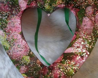 Sparkly Wooden Heart