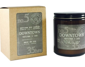 Man's Collection:   No. 5 DOWNTOWN     Vetiver + Oud