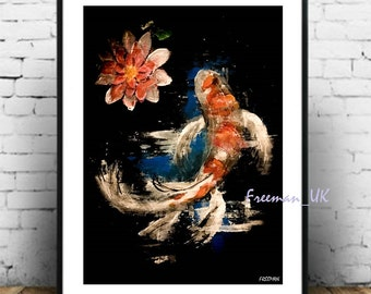 Koi Carp Fine art Giclee print