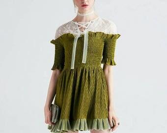 little green princess dress