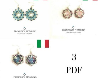 DIY ENG-OFFER! Three photographic schemes: Earrings Samantah, Cecilia, Serena.