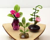 Set of 3 Miniature Vases - Dramatic Pinks