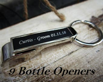 Groomsmen Gift, Key Chain Bottle Opener, Personalized Groomsmen Keepsake, Personalized Wedding Thank You Gifts for Men, Personalized Gift