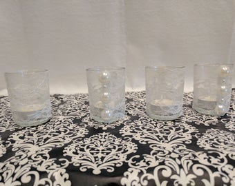 Pearl & Lace Candle Holders